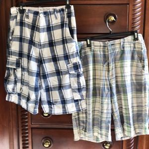 Two pair of cargo shorts